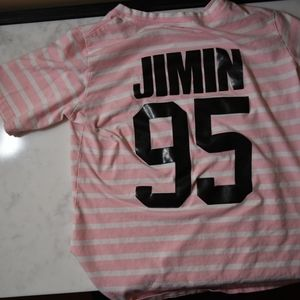 Tops - Pink and White Bts shirt